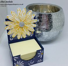 Ann's Happy Stampers: Tiny Adorable Post It Note Holder Using Delightful Daisy