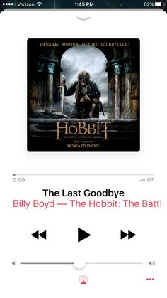 The Last Goodbye. This song is so emotional! It fits its purpose so well! The sad thing about it is that not only is it extremely sad and beautiful, but Billy Boyd, PIPPIN, sings this, which kind of provides a connection to LOTR. This means that The Last Goodbye not only ends the Hobbit series, but ends Tolkien's overall story. We now know the whole story. The movie making is done, the books are written. Our only job now, is to remember. Long live JRR Tolkien. Your legacy will last forever…