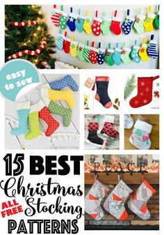 The Ultimate List of Fast and Easy Tote Bags to Sew (with free sewing patterns) — SewCanShe Quilted Christmas Stockings, Mini Stockings, Christmas Stocking Pattern, Felt Stocking, Christmas Sewing, Christmas Fun, Christmas Projects, Christmas Quilting, Christmas Tables