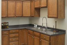 brighton pecan kitchen cabinets surplus warehouse cabinet the how ...