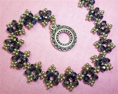"""Free """"Lacy crystal rondelle"""" pattern  Posted Wed, Sep 12 2012 11:40 AM by Julia Gerlach"""