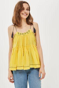 Yellow Hanki Hem Camisole Top - Topshop