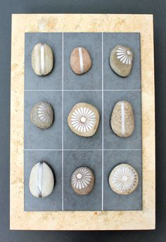 DIY Silver painted pebble game of Tic Tac Toes from Kates Creative Space