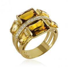 Anel Solar Diamantes