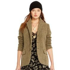 Linen-Wool Herringbone Jacket - Polo Ralph Lauren Women's Shop All - RalphLauren.com