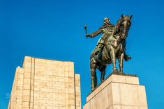Jan Zizka - National Monument in Vitkov. The Equestrian Statue of Jan Žižka of Trocnov.