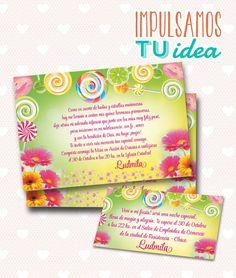 Tarjeta de 15 para imprimir - Invitación y Personal Ludmila