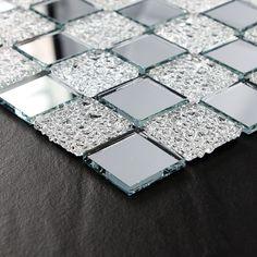 Crystal glass tile mosaic floor tile wholesale kitchen backsplash bathroom wall tile mosaic