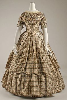 Ensemble  Date: ca. 1856 Culture: British (probably) Medium: silk Dimensions: Length at CB (a): 51 1/2 in. (130.8 cm) Length at CB (b): 15 in. (38.1 cm) Length at CB (c): 40 3/4 in. (103.5 cm) Credit Line: Purchase, Irene Lewisohn and Alice L. Crowley Bequests, 1985 Accession Number: 1985.20.3a–d