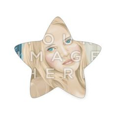 Instagram Photo Star-Shaped Image Stickers #colorbindery #zazzle #customizable #giftideas