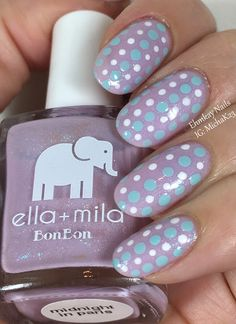 ehmkay nails: Born Pretty Store All-in-One Dotting Tool with Ella + Mila Midnight in Paris Dotticure Tutorial
