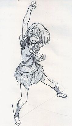 Images of dynamic female anime poses - Art Poses, Drawing Poses, Manga Drawing, Figure Drawing, Manga Art, Drawing Sketches, Anime Art, Girl Drawings, Character Design Cartoon