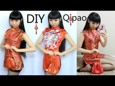 DIY Qi Pao/Cheongsam+Pattern Making | DIY Traditional Chinese New Year Dress - YouTube