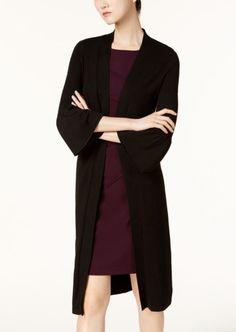 1acf4ff10cf Calvin Klein Bell-Sleeve Duster Cardigan - Black S · Cardigans OnlineCardigans  For WomenShrug SweaterCalvin ...