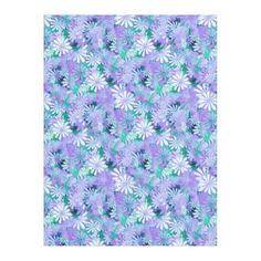 #floral - #Purple Digital Daisies Fleece Blanket