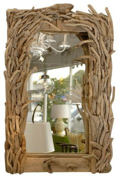 Diy ιδέες καθρέφτη από θαλασσόξυλα (5)