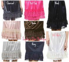 lace slip/skirt extender | womens slip skirt extenders our slip extenders are perfect for ...