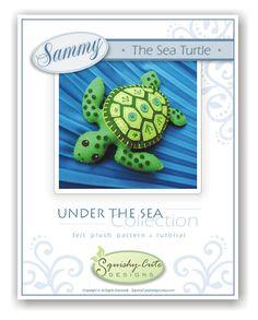 Sea Turtle Sewing Pattern PDF Stuffed Animal Felt Plushie