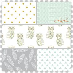 Custom woodland crib bedding set! Grey, mint gold!! Create a nursery you love including crib sheet, crib skirt, changing pad cover!