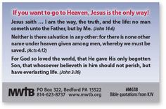 """Jesus is the ONLY WAY to Heaven We are all lost in sin """"There is none righteous, no, not one."""" """"All have sinned, and come short of the glory of God."""" """"All we like sheep have gone astray."""" (Romans 3:10"""