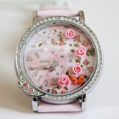 Sweet Flowers Heart Theme Polymer Clay Novelty Watch  $64.69