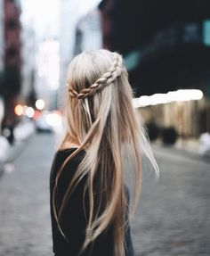 Just one more for the straight haired ladies. A crown braid around lovely straight locks can be just as romantic as curls. Rock what your momma gave ya!