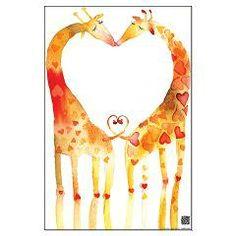 GIRAFFEKISS Large Poster > FINE ART PRINTS AND POSTERS > MASHA D'YANS DESIGN online store