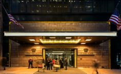 Entree van dit schitterende hotel in New York