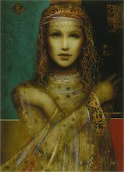 LA LUCANIA by Casaba Markus. Another painting I bought from his collection. The beauty is graceful, and the coloring is exquisite.