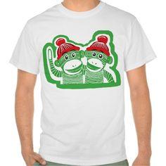 Sold! Thank you to the customer and enjoy! Sock Monkeys Men's Value T-Shirt; Abigail Davidson Art; ArtisanAbigail at Zazzle