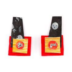Χειροποίητα θεματικά σκουλαρίκια από shrink film, χαρτί και ανακυκλώσιμα υλικά. Earrings Handmade, Accessories, Jewelry Accessories