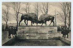 Königsberg (Ostpreußen) Hufenallee mit Denkmal um 1910
