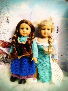 Disney Frozen Elsa and Anna Inspired Dresses by BittyBeanies, $65.00