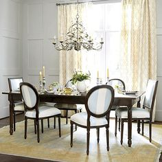 Louis XVI Extension Dining Table 1 Leaf