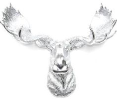 chrome moose head - Google Search