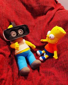 An awesome Virtual Reality pic! Homer Simpson and Bart Simpson fun with #Samsung Gear VR helmet  #Simpsons #virtualreality #movies #cartoons #animation #fashion #tech #fitness #tvshow #children #photography #photoofday #lifehack #lifestyle #food #drinks #selfie #digvic #instalike #minsk #minskcity #bartsimpson #homersimpson #dinnertime by digvic check us out: http://bit.ly/1KyLetq