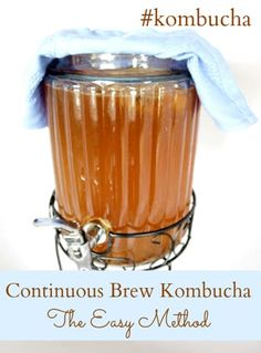 Looking to try brewing your own kombucha Consider the continuous brewing method! #kombucha
