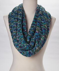 This Blue Supernova Infinity Scarf is perfect! #zulilyfinds