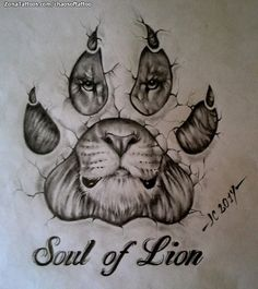 Resultado de imagen para tattoo garra de leon