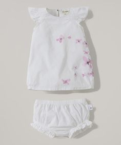 Loving this Cloud Voile Butterfly Organic Dress & Diaper Cover - Infant on #zulily! #zulilyfinds
