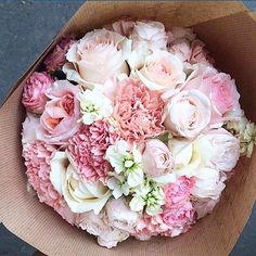 Love love love this bouquet of little pink flowers!