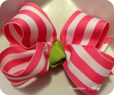 Girls holiday hair clip bow accessory Preppy N Pink by CreateAlley, $7.99