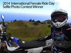 2014 Women and Motorcycling International Female Ride Day Selfie Photo Contest Winner