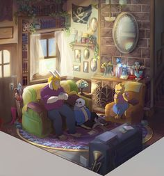 A lot of Undertale. : Photo Asgore and Sans and Alphys