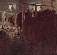 Gustav Klimt - Early Works / Kühe im Stall 1899