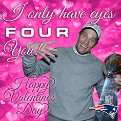 Celebrate Valentine's Day with the New England Patriots