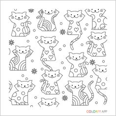 grown up coloring pages cats - photo#23