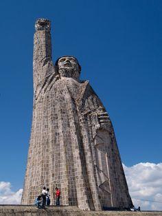 Statue of José María Morelos at Janitzio, Michoacan, Mexico