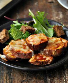 Sweet Potato Parmigiana Bites Salad     #italian #recipes