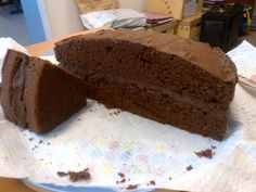 Another moist chocolate cake using double mixture!